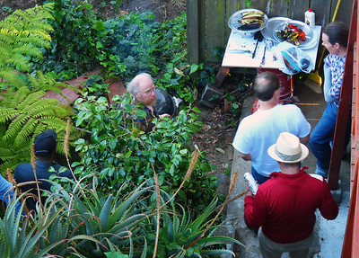 The elusive BBQ club emerges from the shrubbery.