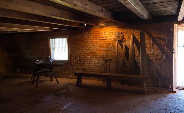 Creole plantation house basement
