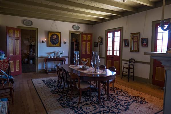 Creole plantation house dining room
