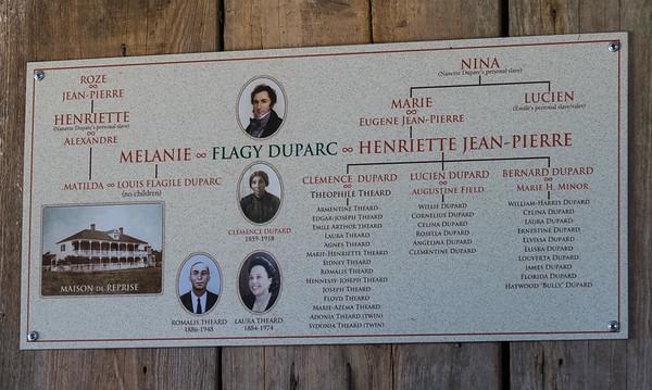 Family tree of the Creole plantation house family