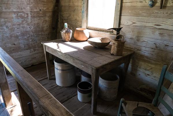 Slave quarters at the Creole plantation house