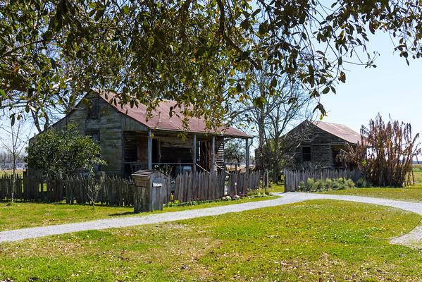 Slave quarters on the Creole plantation house grounds