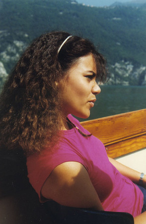Phyllis on a boat in Germany