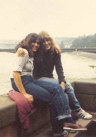 Phyllis with a friend, Germany