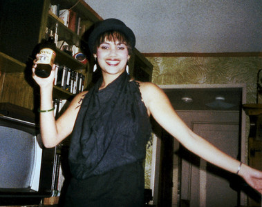 Phyllis in college, livin' it up.... 1982?