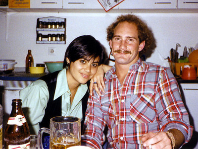 Phyllis and her boyfriend in Germany