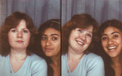 Phyllis & a friend in a photobooth