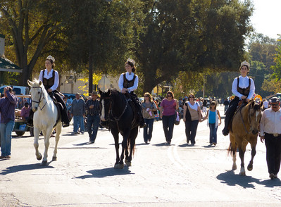 """Beauty Queens in the annual Portuguese """"Our Lady of Fatima"""" Celebration parade in Thorton, CA."""