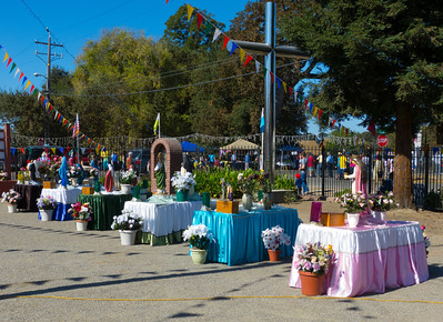 """Religious displays at the """"Our Lady of Fatima"""" church in Thorton, CA."""