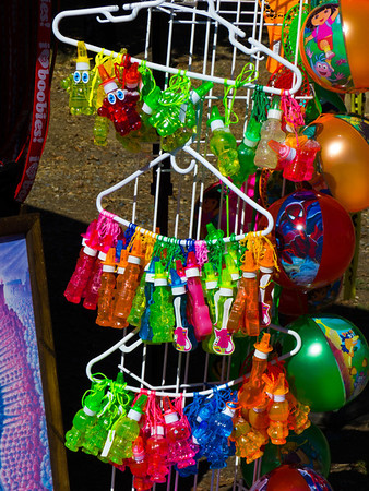 "Colorful items for sale at the annual Portuguese ""Our Lady of Fatima"" Celebration in Thorton, CA."