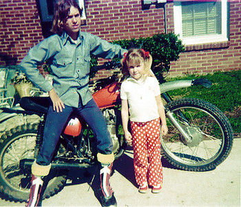 1975 , with my niece and my Honda XL175