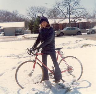 Rare Texas snow, 1973