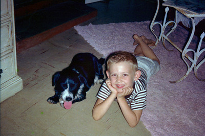 Me & George, the neighbor's dog, 1965