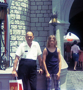 My Dad and I at Disneyworld, 1972