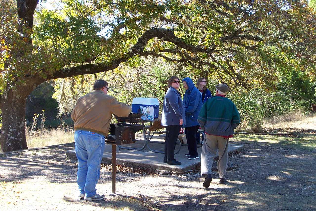 [Lost Maples State Park]  Despite the chilly weather, we had a lovely Thanksgiving picnic.