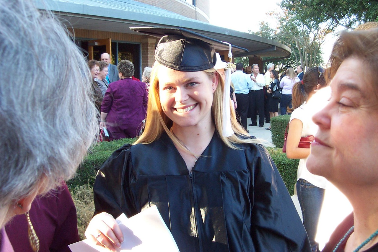 Jenna, the new graduate!<br /> December 2006 graduation at Texas Lutheran University.