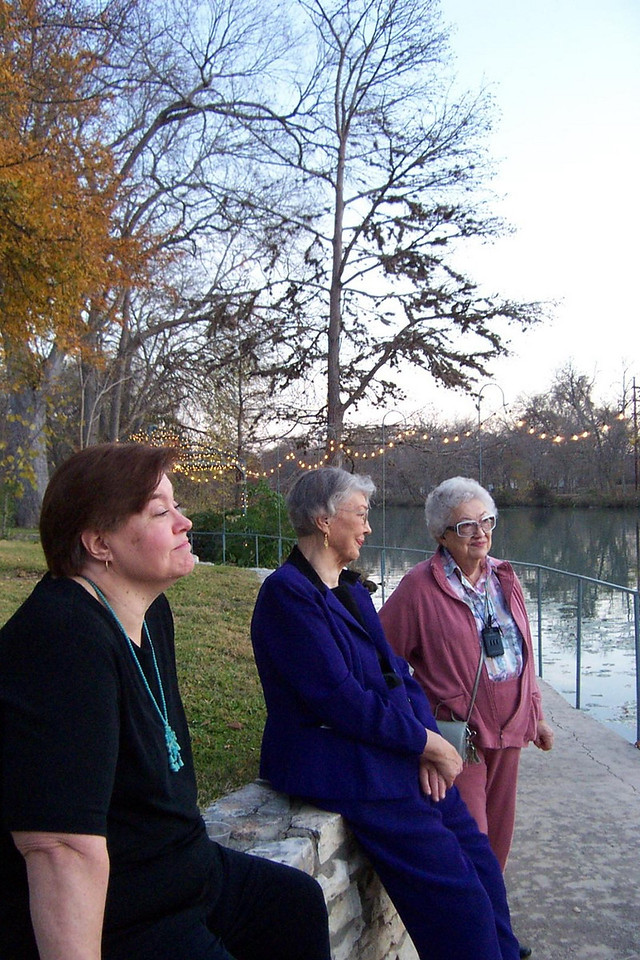 Wendy, Mom, and Aunt Pet on the bank of the Guadalupe River.<br /> Jenna's graduation party at Nolte Farm in Seguin, TX.