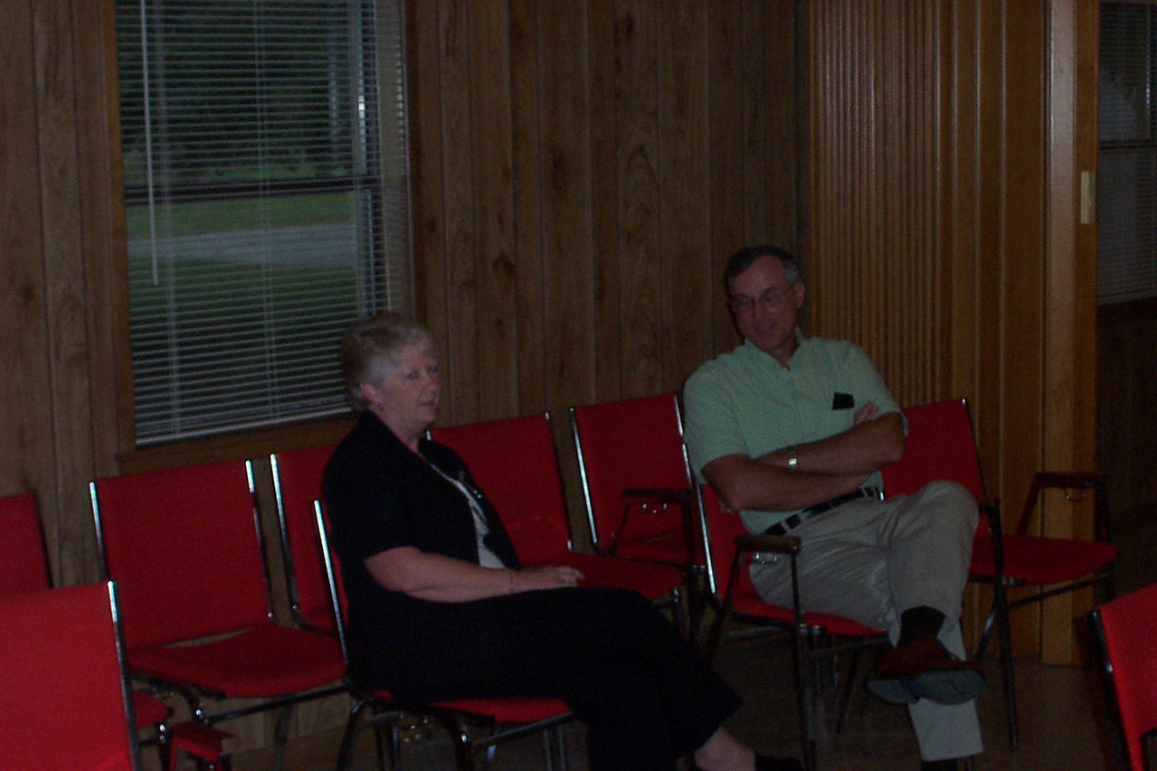 Sheri's mother and my Mom were best friends.  At right is Rev. Martin, pastor of Faith Church.  We had the party in the church's hall.