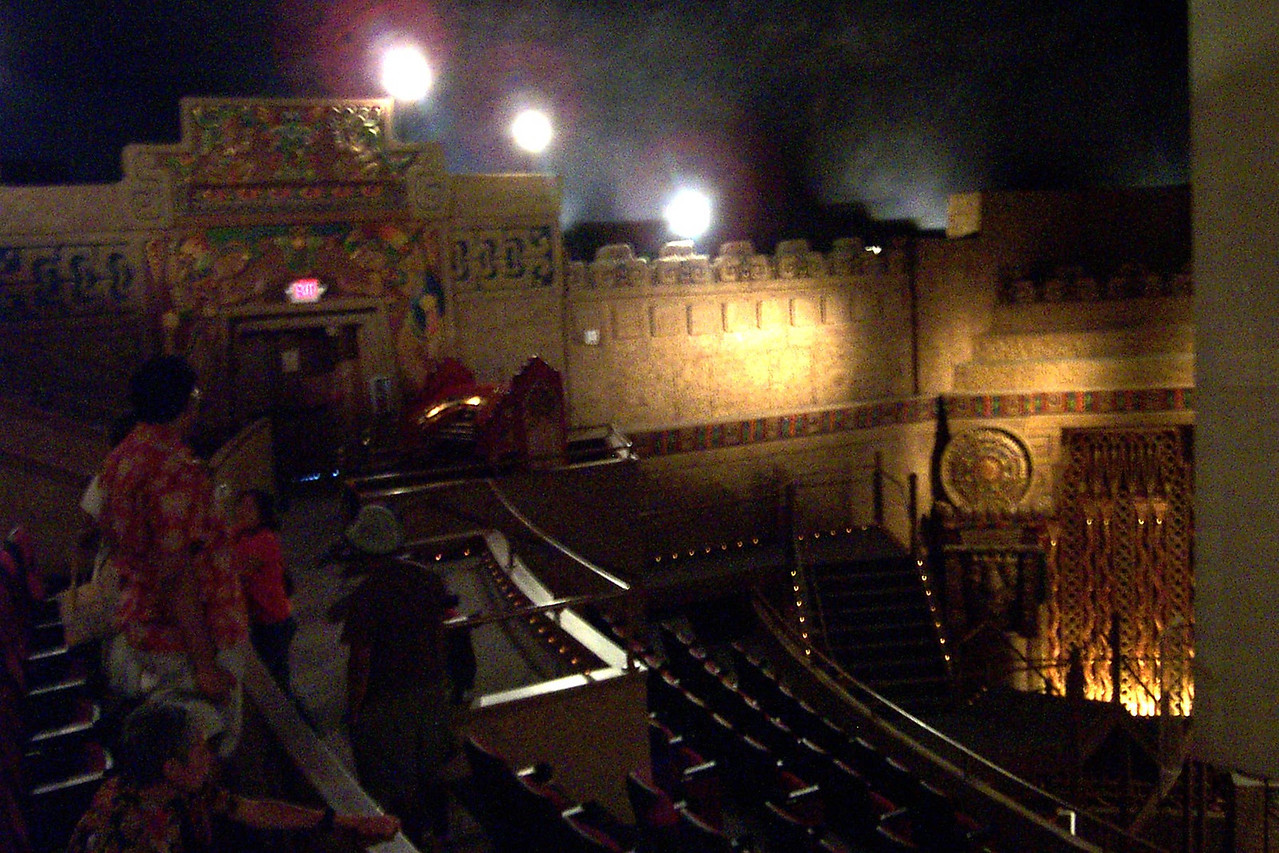 [San Antonio - Aztec Theater]  The sides of the auditorium are decorated like the exterior of an Aztec temple.