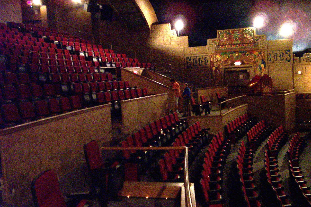 [San Antonio - Aztec Theater]  The auditorium of the theater has its original decorations, with brand new seating.