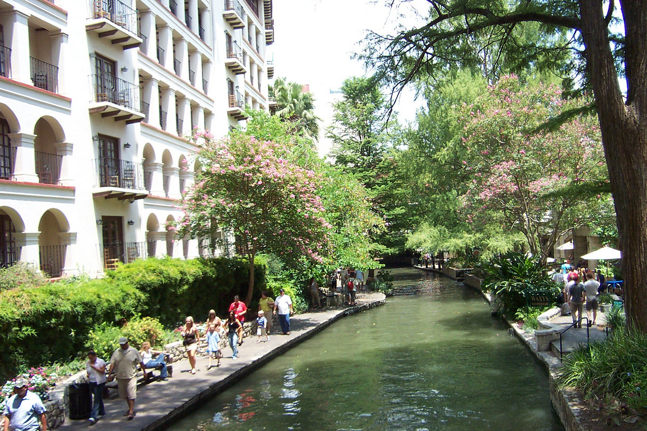[San Antonio River Walk]  And besides being hot, it was very, very humid!