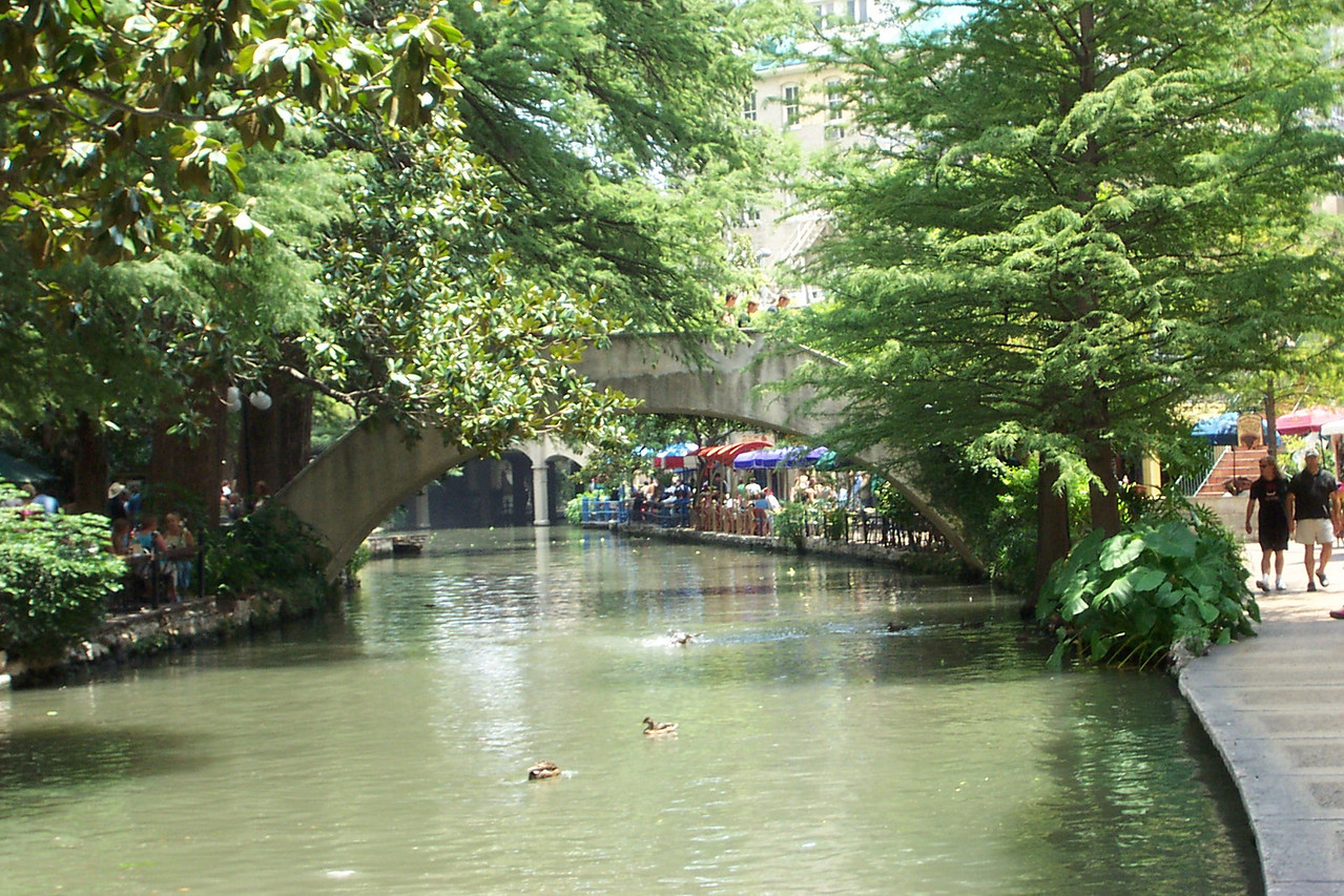[San Antonio River Walk]  We took a short stroll along the river.