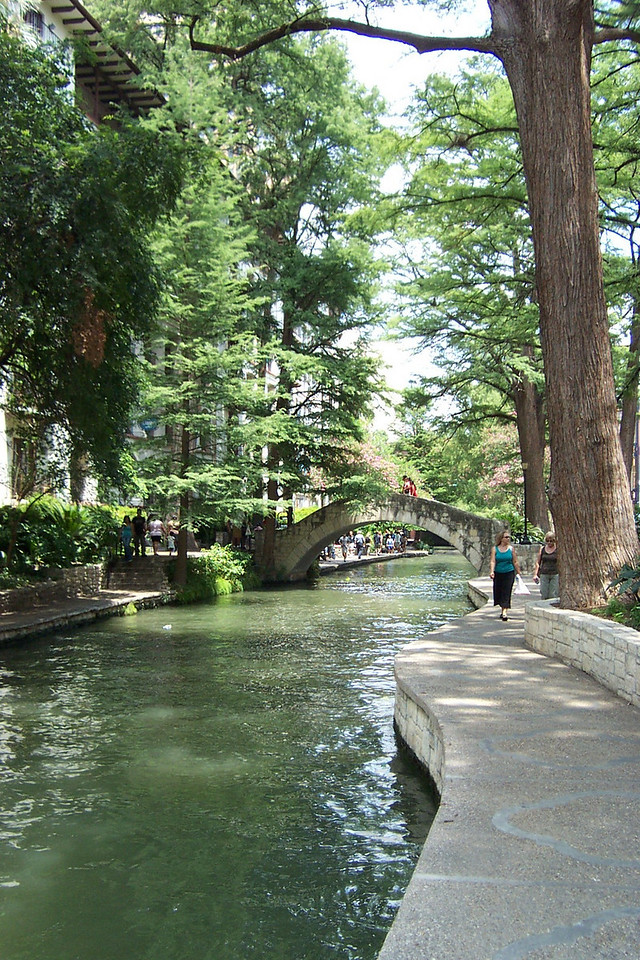 [San Antonio River Walk]  Apart from the brutal weather, it was lovely on the river.