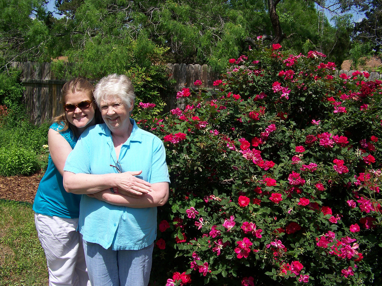 Sheri and my niece Jenna pose in Sheri's backyard on Easter Sunday 2012.  Sheri hosted a wonderful Easter dinner for us and several friends from church.  This was the first Easter I spent in Texas since I moved to Seattle in 1988.  I was there because Dad and I left on our Caribbean cruise the next day.
