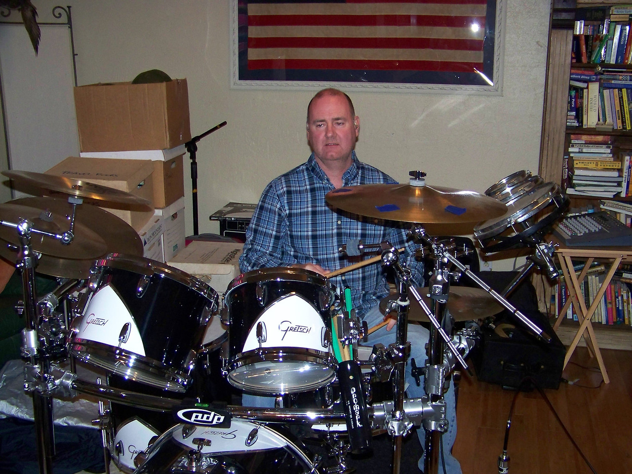 Russell is TReMMR's very solid drummer--I never heard him miss a beat.