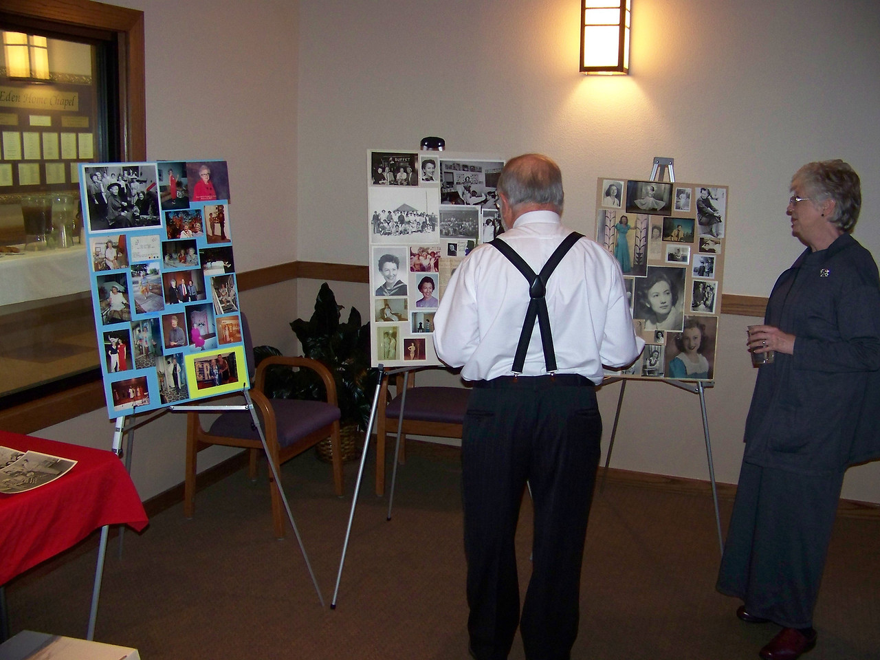 "Sheri also created three memory boards using some of the pictures she found among Aunt Pet's things.  As Sheri said, ""I never knew anyone else who had as many pictures of themself!""  :-)"