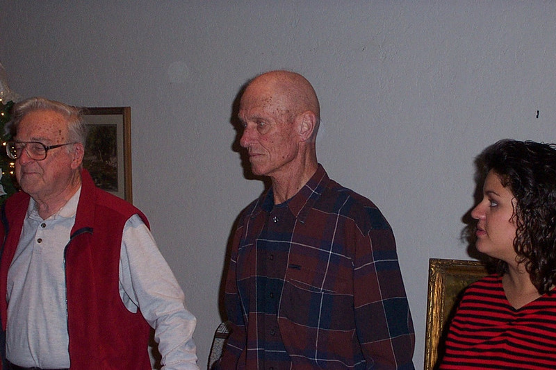 Left to right, my Dad Ken, my uincle Frank, and my cousin Elizabeth (Frank's daughter).