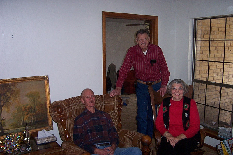 Left to right, Franklin, Billy, and my Mom Betty.