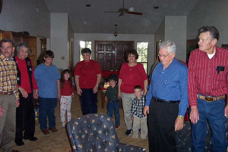 Christmas with the Pfeuffers.  Third from right in the red shirt is my Aunt Shirley (Franklin's wife).