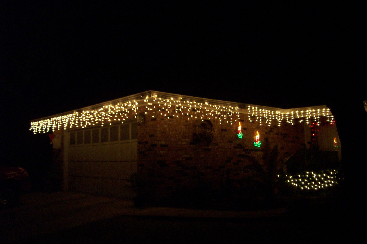 Christmas lights on my parents' house.