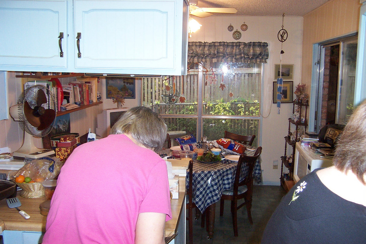 Except for special occasions, we usually eat at this table in the kitchen.