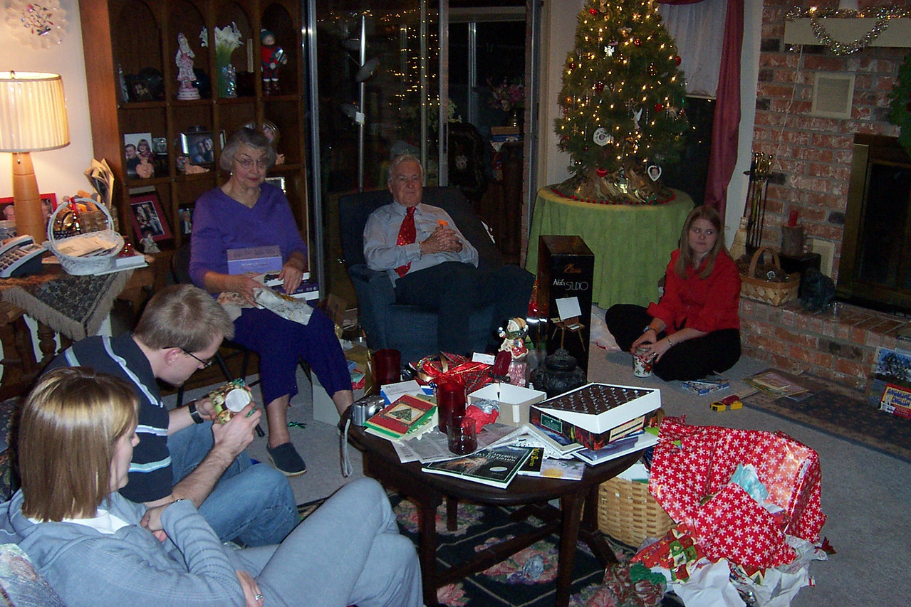 Time to open presents!!  In the German tradition, we exchange gifts on Christmas Eve.
