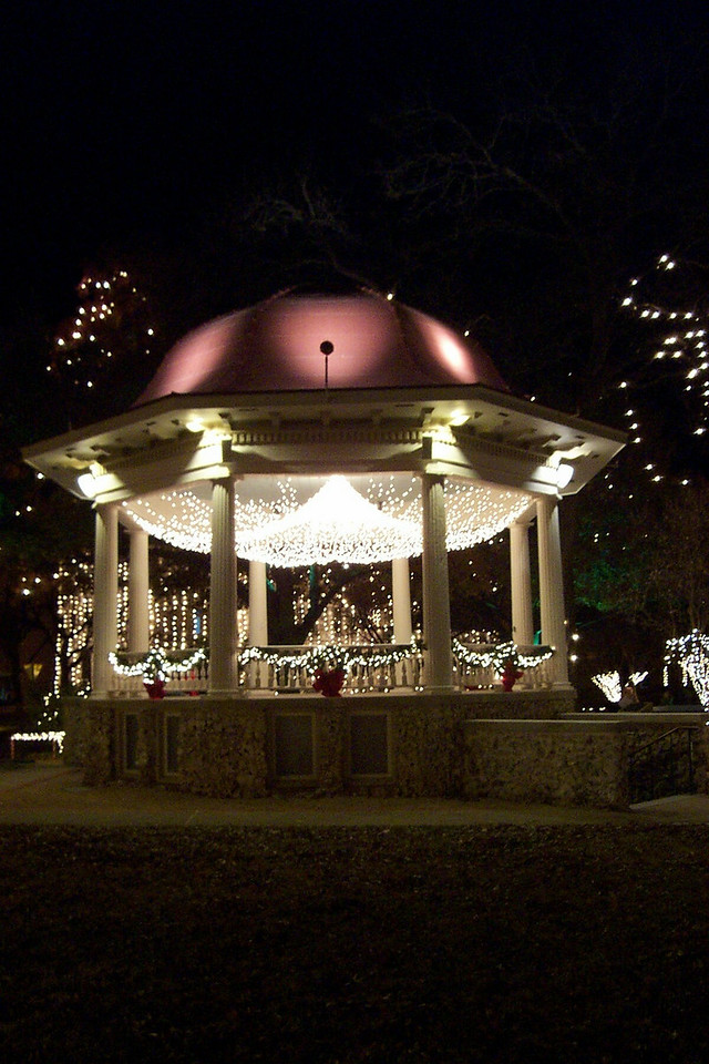 Bandstand on the plaza in New Braunfels.