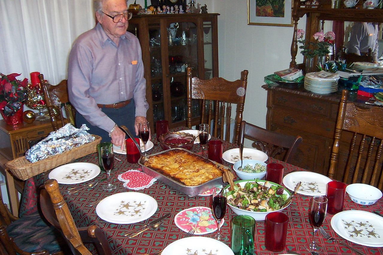 Our Christmas eve dinner (lasagna) is almost ready.