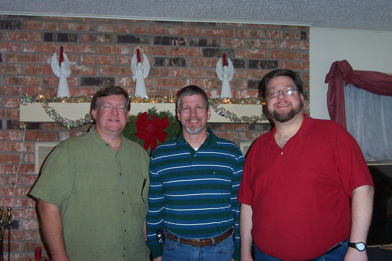 Mark, Greg, and Jon.  I met Greg freshman year when we were randomly paired-up to share a room in Kerr Hall at NTSU.  After that, all three of us shared a house while going to school in Denton.