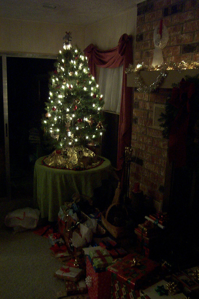 Instead of our usual artificial tree, this one was real.
