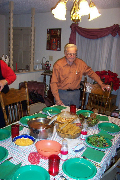 Christmas Eve dinner.