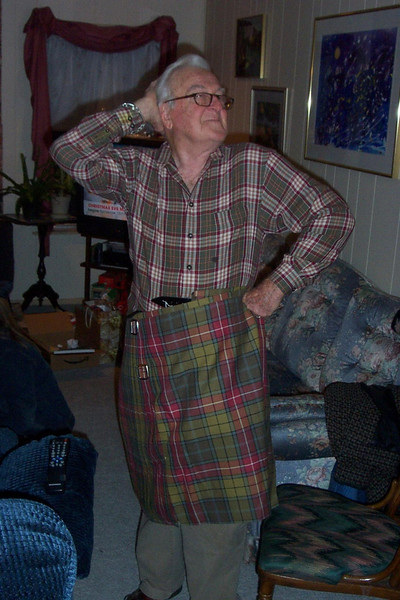 Dad in a kilt?!?  We're not even Scottish!