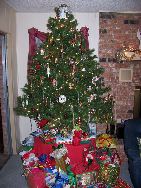 Our Christmas tree (I decorated it!)