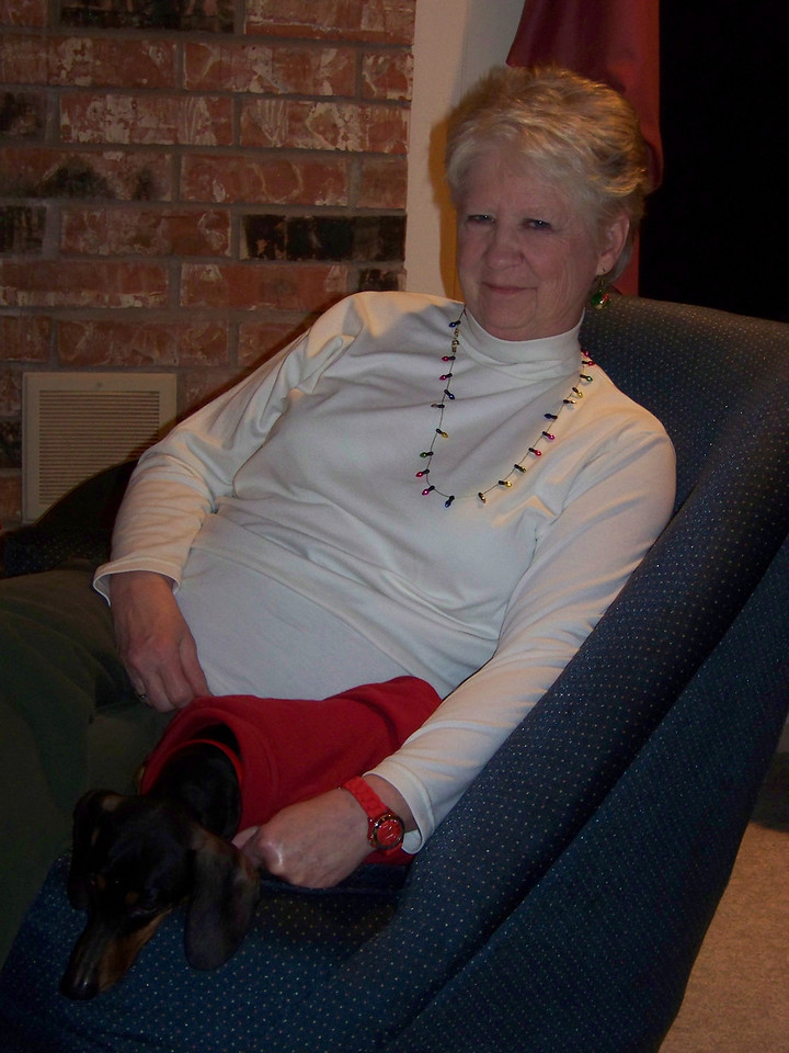 Sheri and Oscar, who is also a really sweet dog!