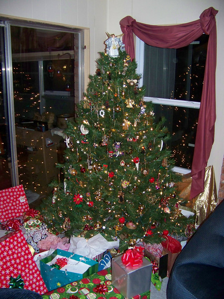 Here's the tree, taken with the flash.