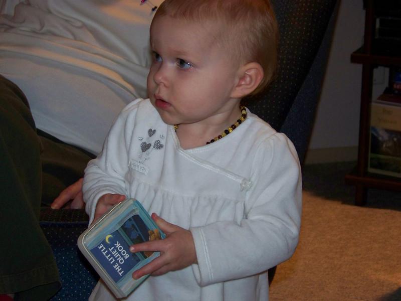 Embyr loves books!