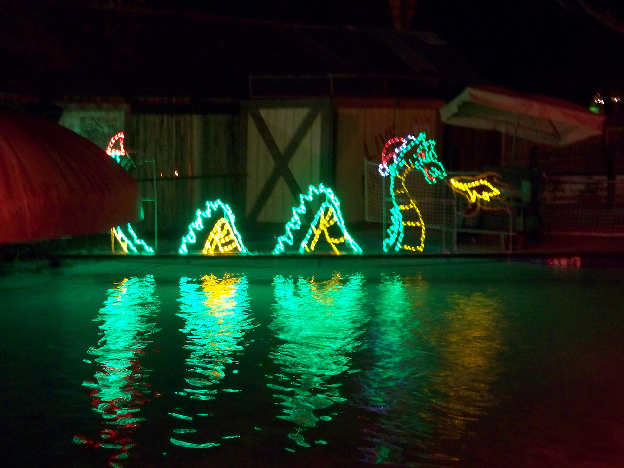 And this Christmas sea serpent (?!) bids us farewell from Schlitterbahn.  I wound up enjoying this experience more than I expected.  For me, it was worth the $15.00 entry fee.<br /> [Schlitterbahn's Hill Country Christmas 2009]