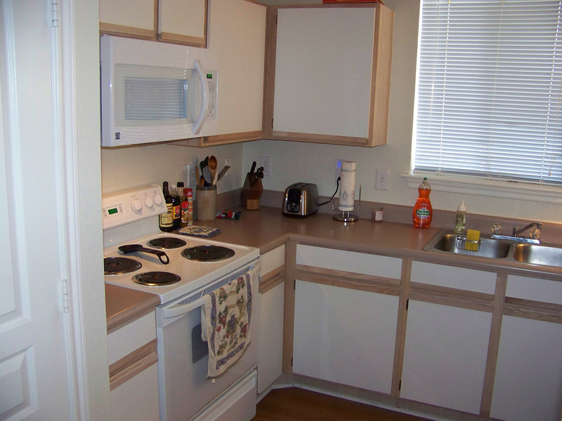 The other side of the kitchen, which was nice and large.