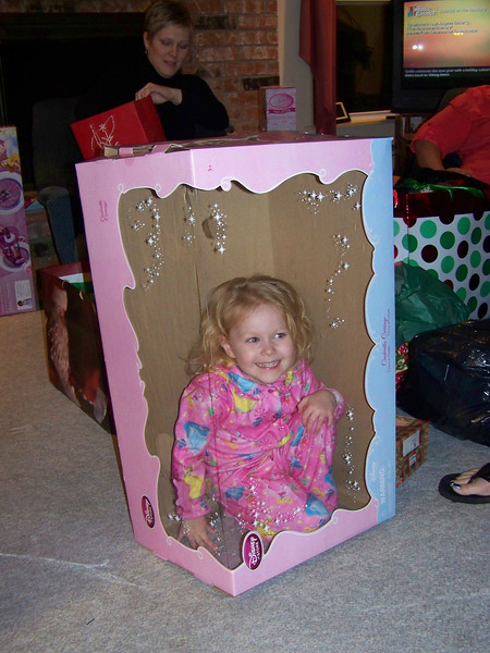 I gave Embyr a toy version of Cinderella's coach, which came in this big box.  I think the box was more fun!  :-)