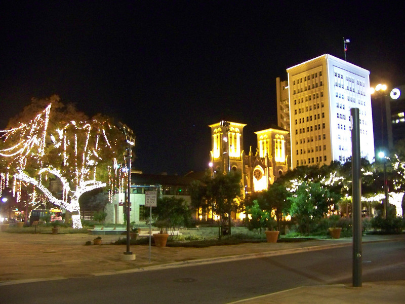 On our way to the River Walk, we passed through San Antonio's Main Plaza, which is seen here.